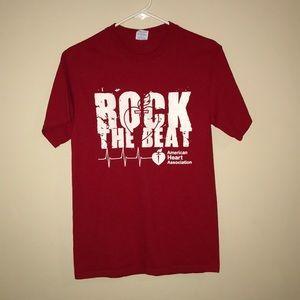 American heart association rock the beat red shirt